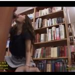 綺麗でHなお姉さん石原莉奈が図書室の死角でベロチュー手コキとフェラで抜いてくれる!